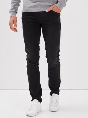 Hyper Stretch jeans slim denim noir homme