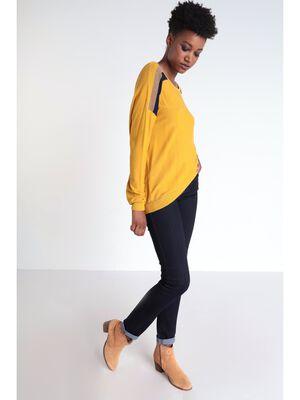 Jeans slim details sequins denim brut femme