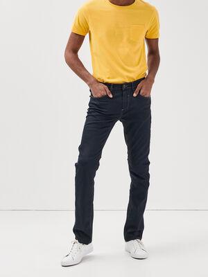 Jeans straight 5 poches denim gris homme