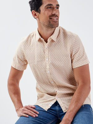 Chemise eco responsable jaune moutarde homme