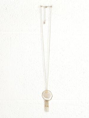 Sautoir pendentif filigrane couleur or femme