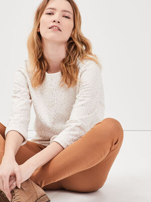 Pantalon skinny push up marron femme