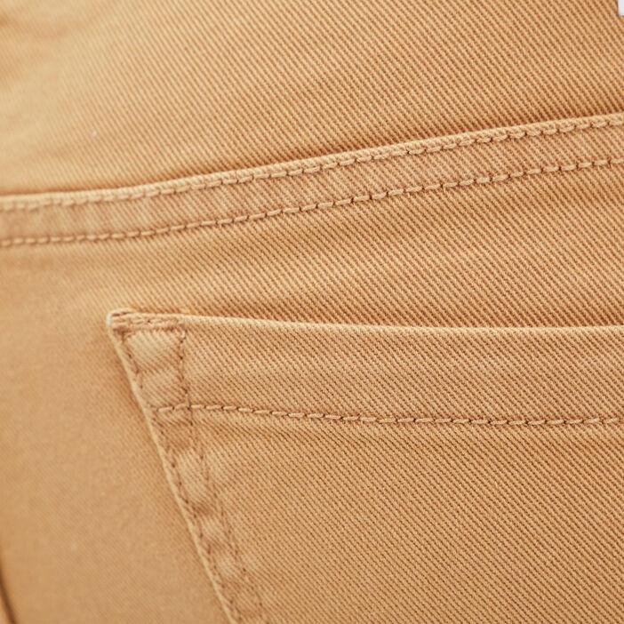 Bermuda droit en jean beige homme