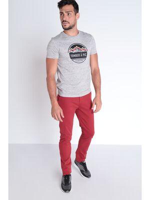 Pantalon Instinct chino slim rouge fonce homme