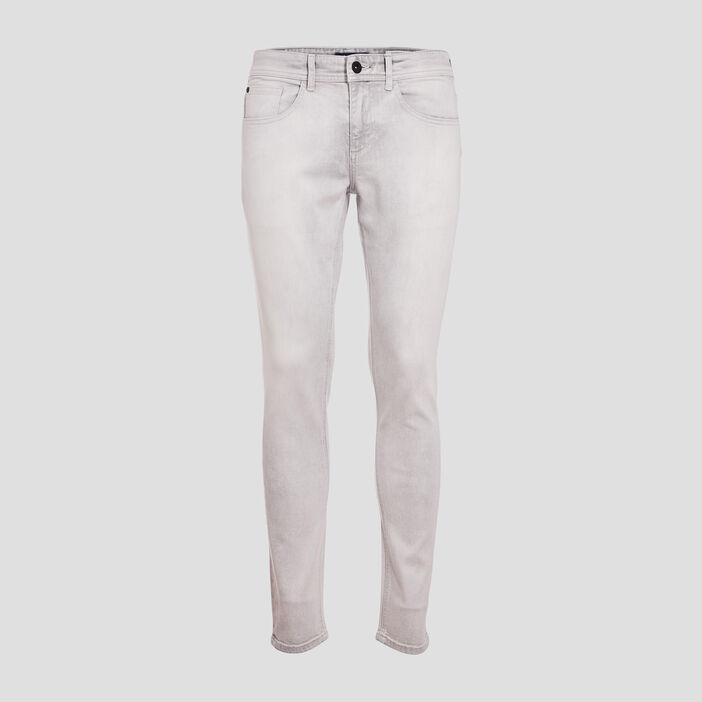 Jeans skinny 5 poches denim snow gris homme