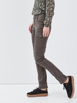 Pantalon battle vert femme