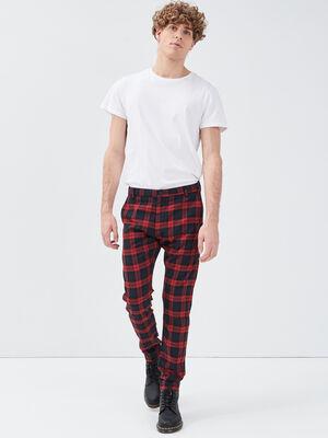 Pantalon chino taille standard noir homme