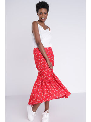 Jupe longue rouge femme