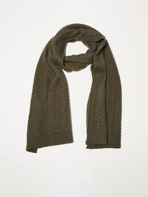 charpe tricotee vert kaki homme