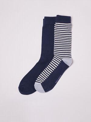 Lot 2 paires de chaussettes blanc homme