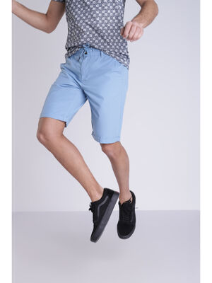 Bermuda uni bleu lavande homme