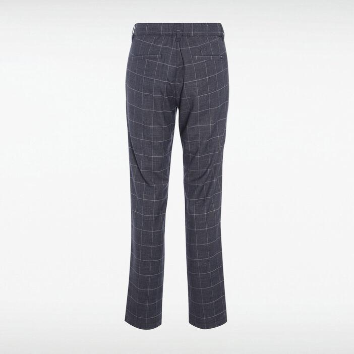 Pantalon chino cordon taille gris foncé homme