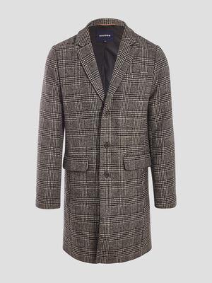 Manteau droit boutonne gris fonce homme