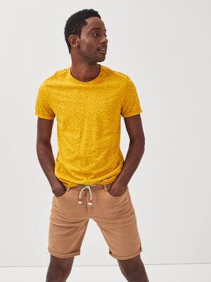 Bermuda droit 5 poches beige homme