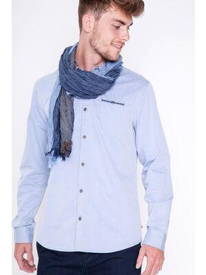 Foulard rayures 3 coloris bleu fonce homme