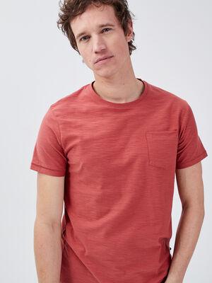 T shirt manches courtes vieux rose homme
