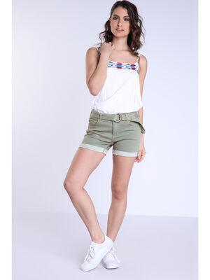 Short vert kaki femme