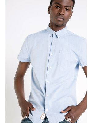 chemise col simple homme coupe ajustee parme