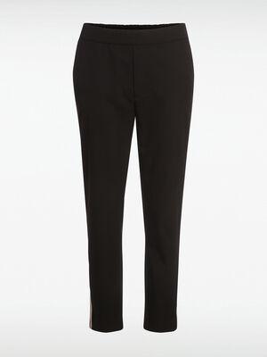 Pantalon bandes noir femme