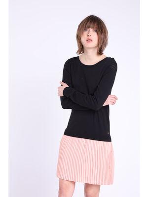 Robe 2 en 1 jupe plissee rose femme