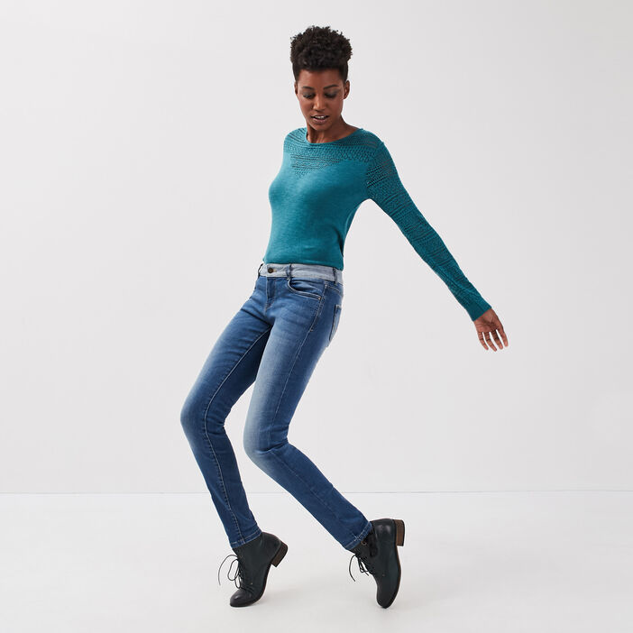 Jeans Isabelle - slim denim stone femme