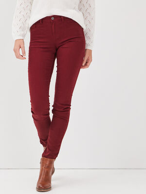 Pantalon eco responsable bordeaux femme