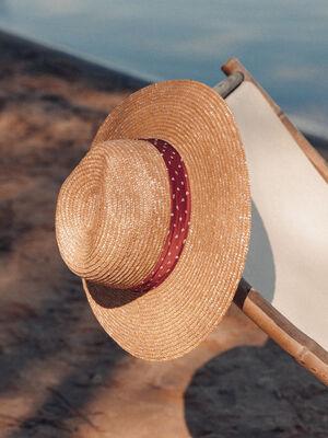 Chapeau tresse sable femme