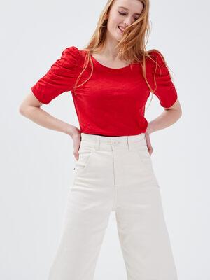 T shirt eco responsable rouge femme