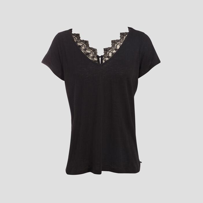 T-shirt manches courte noir femme