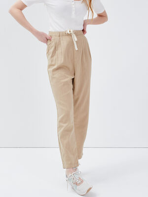 Pantalon droit 78eme beige femme
