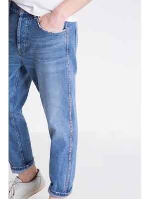 jeans carotte homme effet destroy denim stone