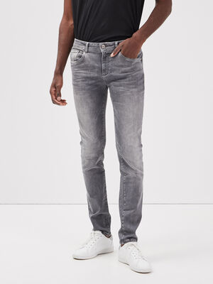 Jeans slim ultra stretch denim snow gris homme