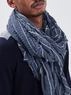 Foulard bleu marine homme