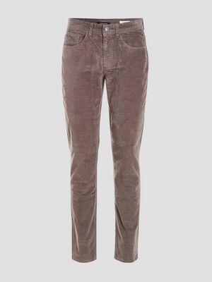 Pantalon slim effet velours gris fonce homme