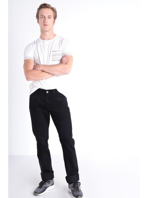 Jeans Instinct straight denim noir homme