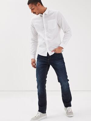 Jeans eco responsable straight denim brut homme