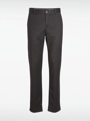 Pantalon droit 2 poches gris fonce homme