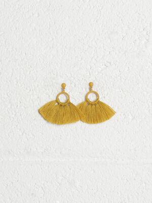 Boucles doreilles pendantes jaune or femme