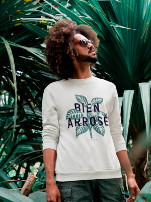 Sweat col rond ecru homme