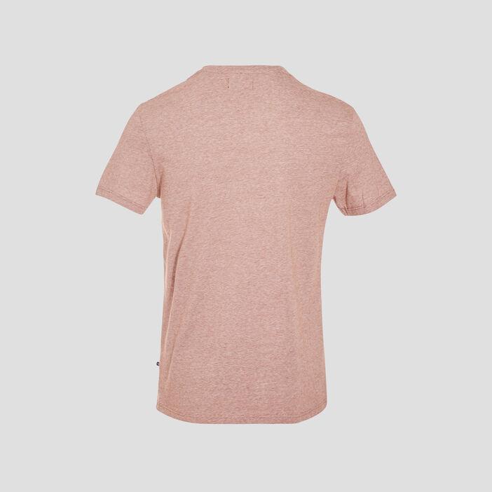 T-shirt manches courtes marron cognac homme