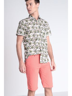 Bermuda droit 5 poches rouge homme