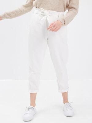 Pantalon slouchy 78eme blanc femme