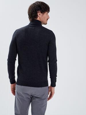 Pull 100 laine merinos noir homme