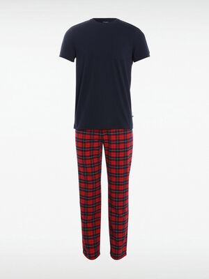 Ensemble pyjama bordeaux homme