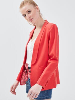 Veste droite eco responsable rouge femme