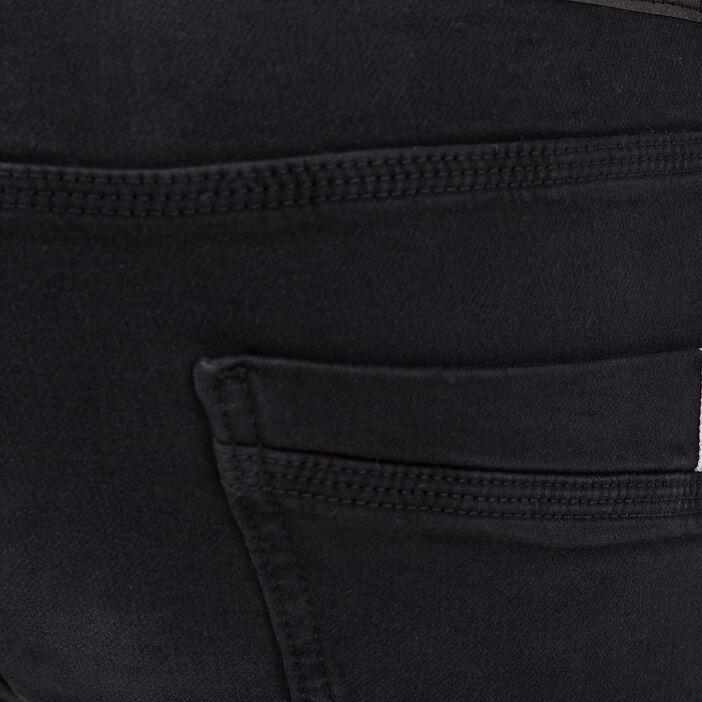 Jeans straight used denim noir homme