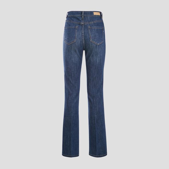 Jeans bootcut taille haute denim stone femme
