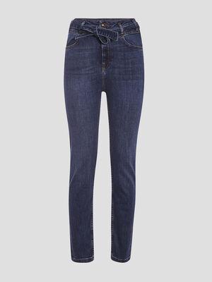 Jeans slim ceinture denim stone femme