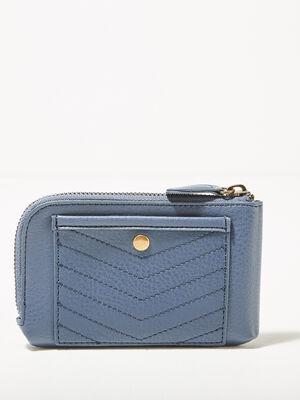 Portefeuille bleu fonce femme