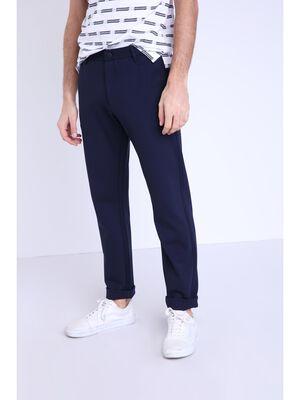 Pantalon droit taille standard bleu fonce homme